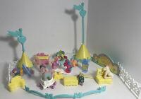 Vintage my little pony G1 mini figurines lot 30, Pony Park Pieces, long mane 80s