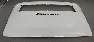 NICE RUST FREE USED ORIGINAL GENUINE PORSCHE 911 CARRERA WHITE REAR DECK LID