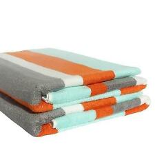 Beach Towel in Aqua, Grey & Orange