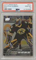 2015 2016 Malcom Subban UPPER DECK YOUNG GUNS FOIL PSA 10 ROOKIE CARD RC #211