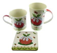 2 x en boîte cadeau tasses nouveauté de Noël un avec Dessous De Verre Abigail