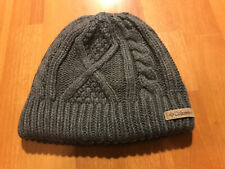 Columbia Beanie Fleece Lined Thick Knit Exterior Gray Color Winter Warm