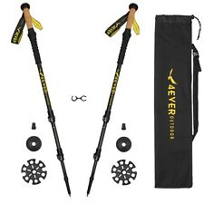 Collapsible Ultralight 3K Carbon Hiking Walking Trekking Poles Sticks 1 Pair