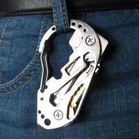 1 Pcs Multifunction EDC tool stainless steel Key Holder Organiser Clip Folder Ke