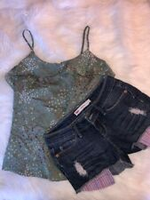 Levis Womens Junior Shorty Short Denim Jean Shorts Size 1