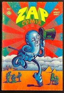 Zap Comix #4, 1st Printing, 1969 (FN+): Apex Novelty R. Crumb