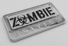 Zombie Edition Chrome Emblem with domed decal Car Auto motorcycle bike Badge
