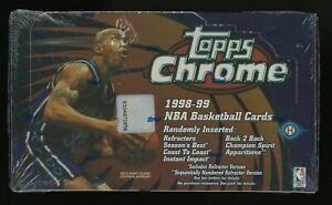 1998-99 Topps Chrome Basketball Factory Sealed Hobby Box Carter Pierce Nowitzki
