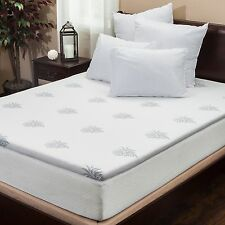 "Silica Gel 2"" King Size Memory Foam Mattress Pad Topper"