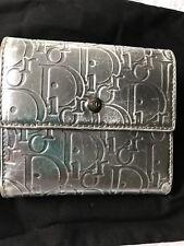 christian dior Wallet Folding Logo Silver