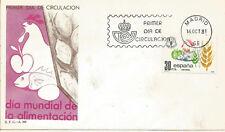 Spd FDC First Day spain Dia mundial de la feeding Edifil # 2629 1981