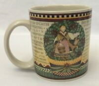 Debbie Mumm Sakura 12 Days of Christmas Mug 8 Maids a Milking Coffee Tea Cocoa