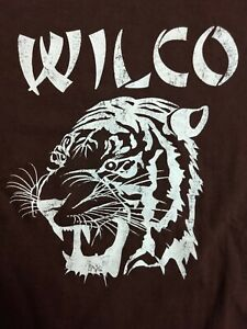 Vintage WILCO Tiger Head Logo Rock Band Graphic Tee Distressed Med. GREAT Cond.