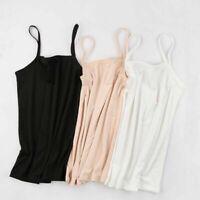 Women Soft Plain Sleeveless Ladies Stretch Strappy Cami Camisole Vest Tank Tops