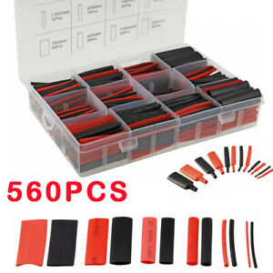 560Pcs Heat Shrink Tubing Tube Sleeve Kit Electrical Assorted Cable Wire Wrap
