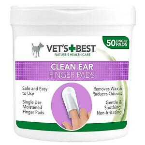 Dogs Ear Wipes Cleaning Finger Pads Pet Ears Hygiene Reduces Odours Pack Of 50