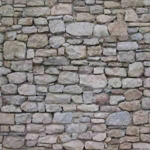 16 SHEETS EMBOSSED BUMPY PAPER stone wall paper 20x28cm HO 1/87