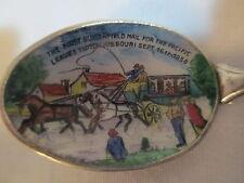 US Mail Postal Tipton MO Enamel Sterling Souvenir Spoon Portrait Butterfield