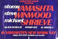Stomu Yamashta's 1976 Go Album Promo Poster Steve Winwood Michael Shrieve