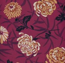 COTTON QUILT FABRIC CRANSTON VIP CREAM & GOLD FLOWERS ON RED PER YARD 0503612