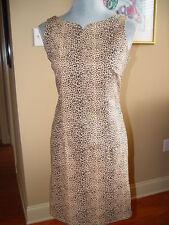 Giorgio Fiorlini Dress Sze 8 Wiggle/Pencil Beiges Animal Print Cotton Blend D39