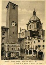 """"""" MANTOVA : Piazza Broletto - Torre delle ore e cupola """"  Viaggiata Anni 50"""