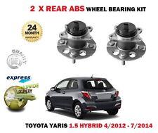Per TOYOTA YARIS 1.5 HYBRID Hatchback 2012-7/2014 NUOVE 2X KIT CUSCINETTO RUOTA POSTERIORE