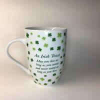 Irish Blessing Coffee Cup Mug ☘️ A Little Irish Luck Shamrocks
