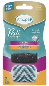 Amope Pedi Perfect (1) Extra Course Refill and (1) Exfoliating brush refill pack
