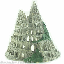 Tower Of Babel Ruin Castle/Wall Fish Tank Aquarium Decoration Ornament - MS221