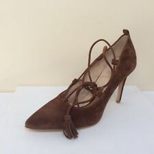 K&S Miley tan suede ankle tie courts, UK 7/EU 40, RRP £169, BNWB