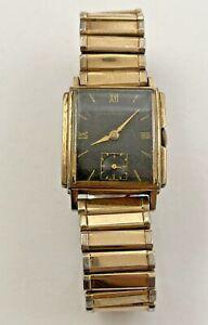 Vintage Men's Girard Perregaux Mechanical 17 Jewels 10k Gold Filled Watch 211717