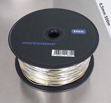 Verschleissdraht  Pyrokabel 2x0,5mm 500m Rolle  Litzendraht Draht 500m Rolle