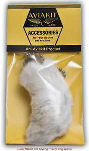 Lucky rabbit foot keyring  by Lewis Leathers Aviakit