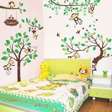 Wandtattoo Wandsticker Wandaufkleber Affen Wald Kinderzimmer Groß XXXL A3