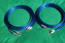 Samurai TRUE 10 Gauge Wire Speaker Cable  W/ Dual Angle Pin Plugs Pair , 8 Ft.