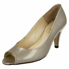 Patternless Peep Toe Patent Leather Heels for Women