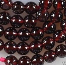 Beautiful nature 6mm Sri Lanka Red Garnet Gemstone Round Loose Bead 15''