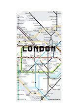 Kikkerland Set Of 50 London Map Fridge Magnets Metro City Map Note Holder Gift