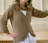 "Ladies Jacket Cardigan Crochet Pattern Chest 32 - 42""  BR527"