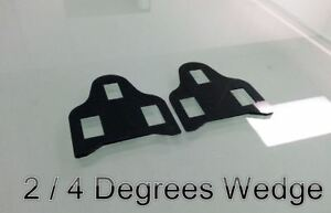 WEDGES FOR SHIMANO SPD-SL road bike pedal cleat wedges shim spacer: 2/4 Degrees