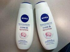 Nivea Moisturizing Body Wash Care & Sparkle 16.9 oz (Lot of 2)