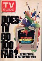 1973 TV Guide October 13 - China; Burt Reymolds; Sally Field; Lotsa Luck; Dom D
