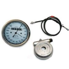 Replica White Smith Speedo 160 kph With 54 Inch Cable & Alloy Hub Drive CAD