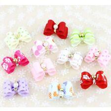 10Pcs/lot Pet Headwear Decoration Handmade Pets Dog Bows Cute Grooming Bowknot