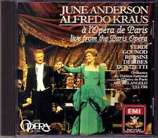 June ANDERSON & Alfredo KRAUS: Live from Paris Opera CD Verdi Donizetti Rossini