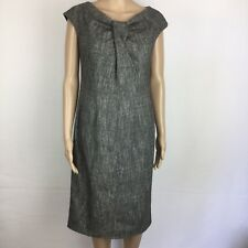 Georges Rech Synonyme Black Herringbone Shift Dress Size 12 NWT RRP$695 (BC14)