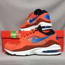 Nike Air Max 93 UK11 306551-800 US12 EUR46 coral red blue orange white 1 80 90