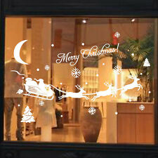 Sweet Deer Snowflakes Christmas Decoration Decal Window Stickers Decor for Home