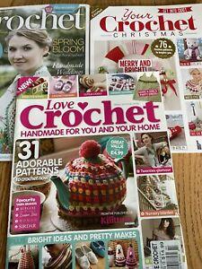 Crochet Lot Of 3, Your Crochet Christmas, Love Of Crochet, Inside Crochet
